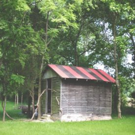 Corn shed.